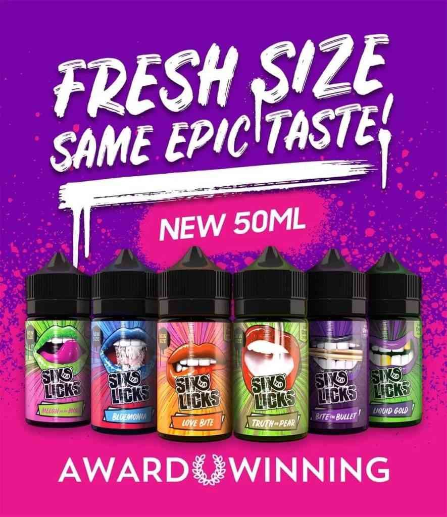 Six Licks Available In 50ML